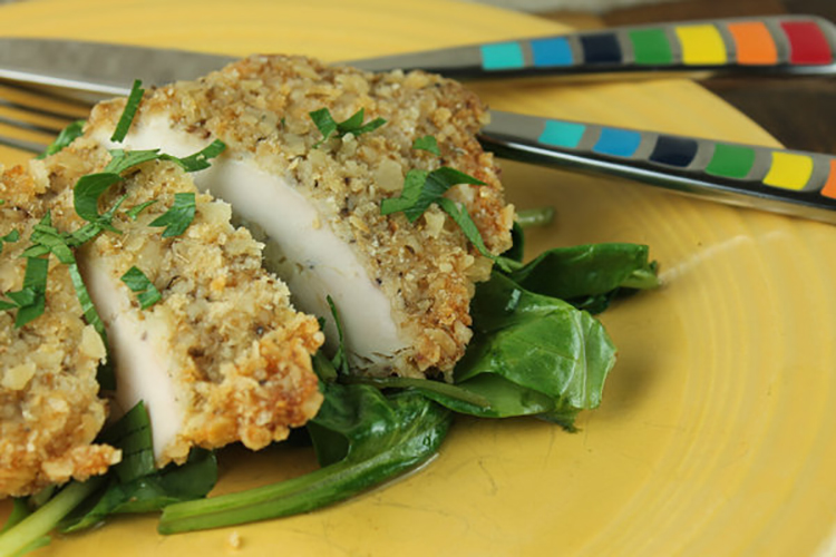 Crispy Baked Parmesan Chicken Breasts