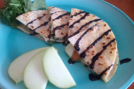 Feta, Apple, and Arugula Quesadillas