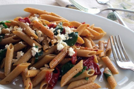 Mediterranean Penne with Sun-dried Tomatoes