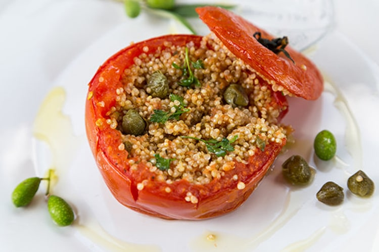 Mediterranean Quinoa-Stuffed Baked Tomatoes