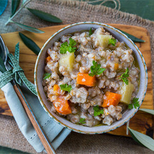 Slow Cooker Beef and Farro