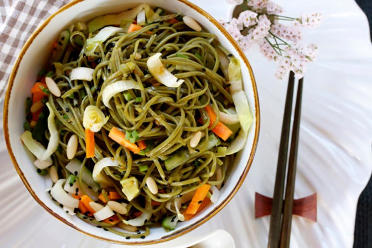 Soba Salad with Honey-Ginger Dressing