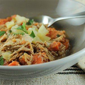 Sweet Potato, Apple, and Chicken Stew