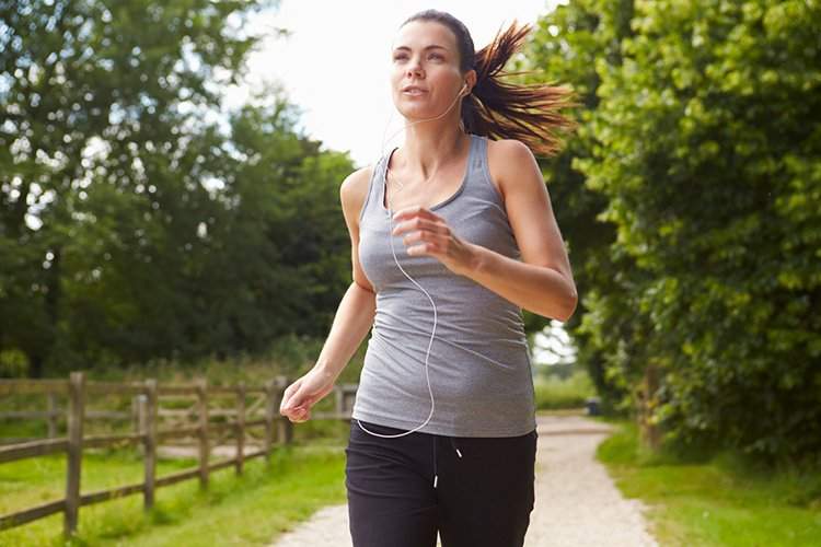 Running is higher in intensity when compared to jogging.