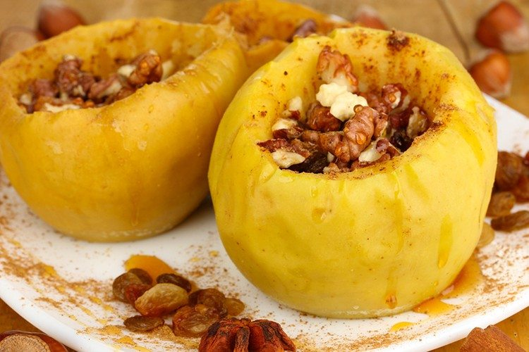 Honey Baked Apples with Stovetop Granola