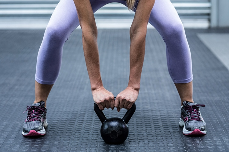 A Kettle bell is great for both strength training and cardiovascular endurance.
