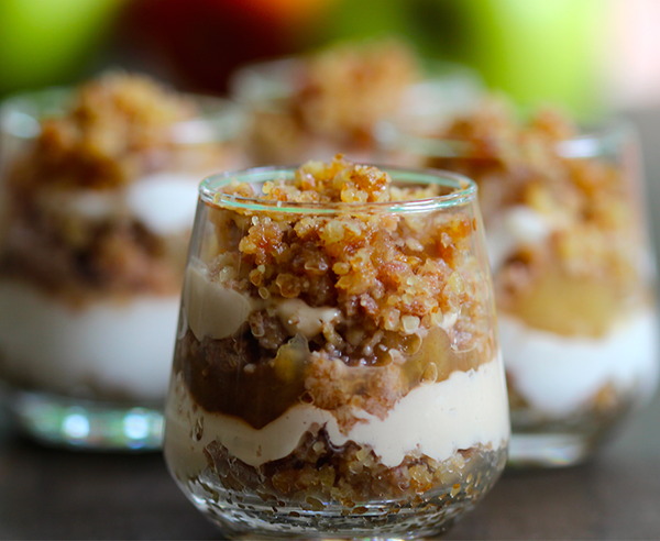 No-Bake Mini Apple Cheesecakes