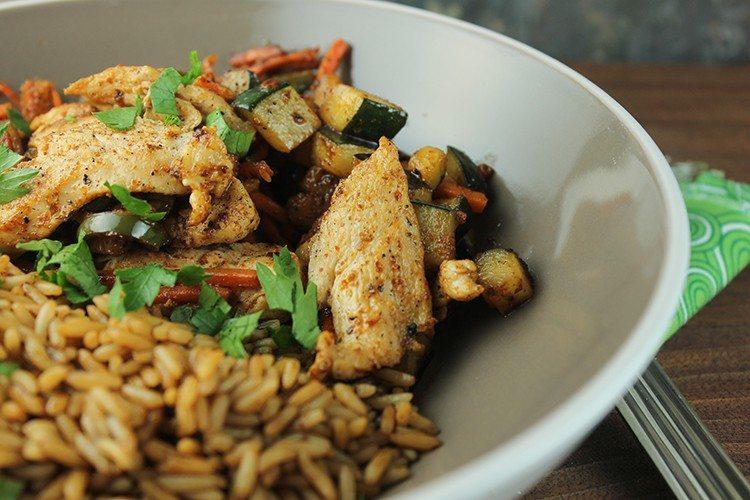 Santa Fe Chicken and Zucchini Stir Fry Recipe