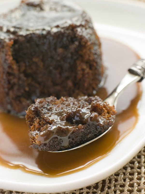 Slow Cooker Chocolate Bread Pudding with Caramel Sauce