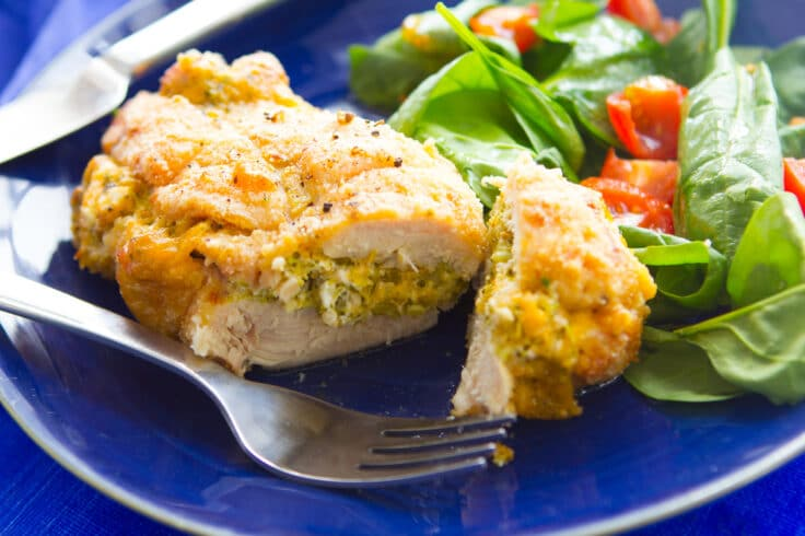 Broccoli cheese stuffed chicken is great for dinner any night of the week!