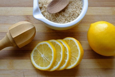 DIY Lemon Brown Sugar Hand Scrub