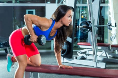 Dumbbell Kickbacks for Tricep Toning