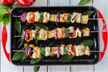 Grilled Chicken and Vegetable Skewers