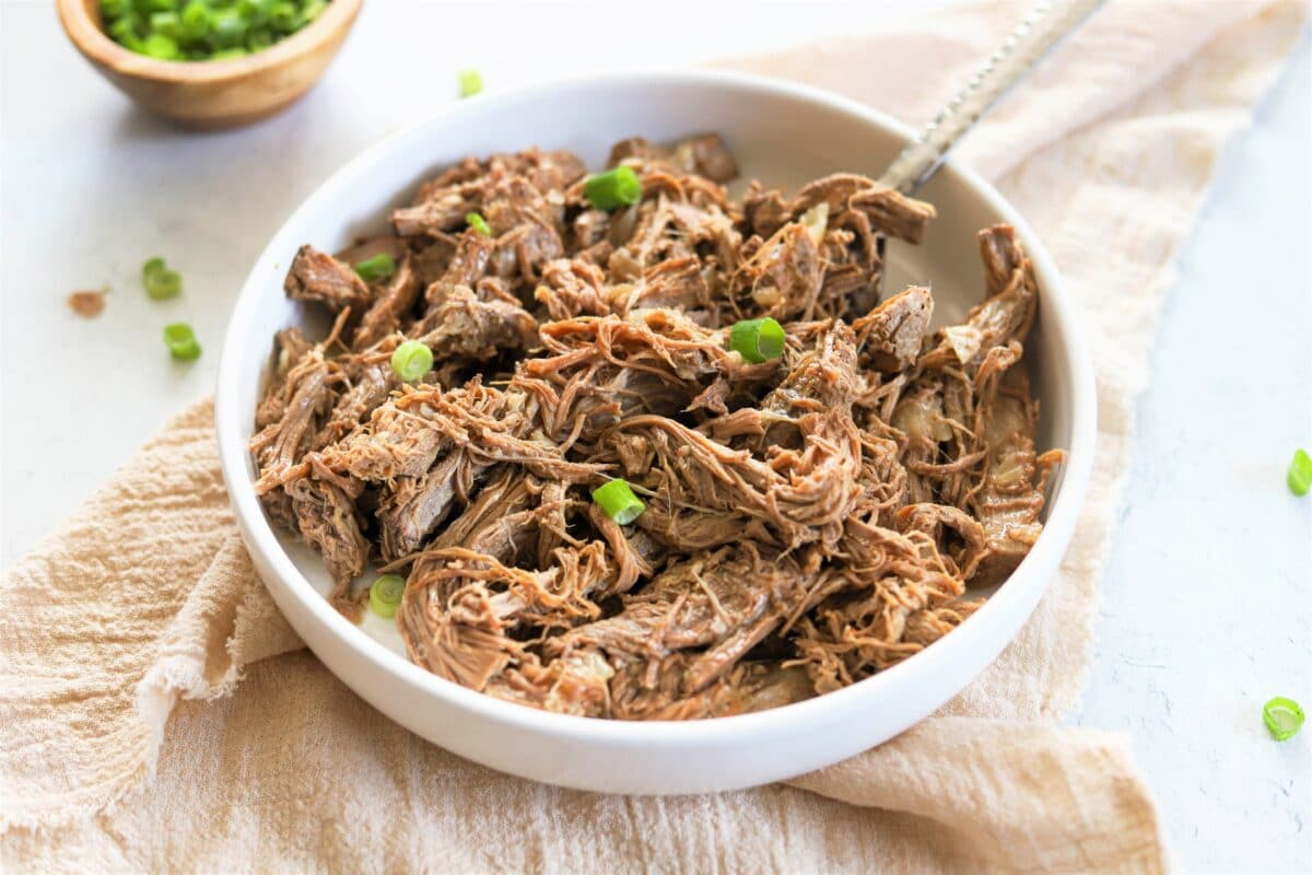Dig into this healthy, high-protein shredded beef for lunch or dinner!