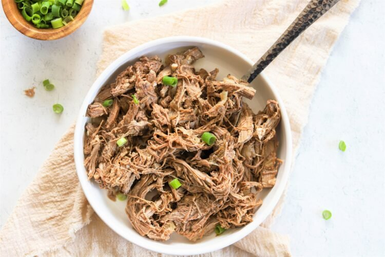 Shredded beef is perfect for tacos, nachos, salads, and more!