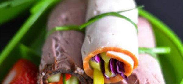 Paleo-Friendly Meat Veggie Roll-Ups