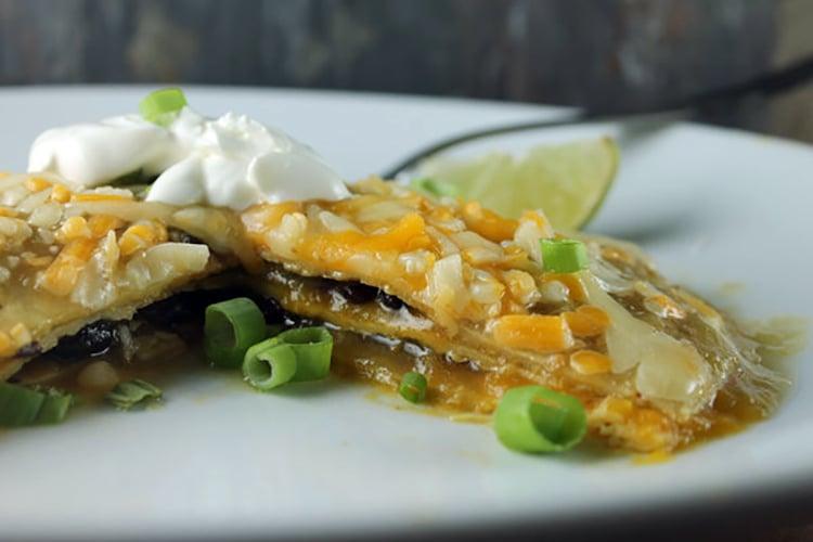 Pumpkin and Black Bean Enchilada Casserole Recipe