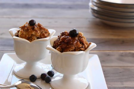 Slow Cooker Cinnamon and Pecan Bread Pudding