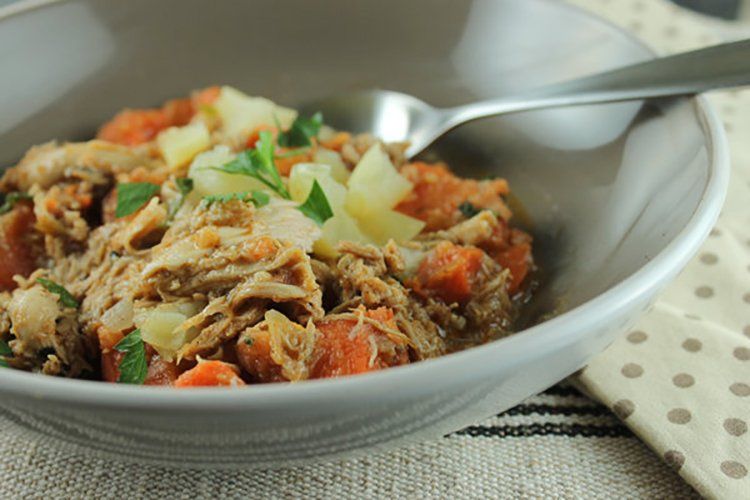 sweet potato, apple, and chicken stew meals for the freezer