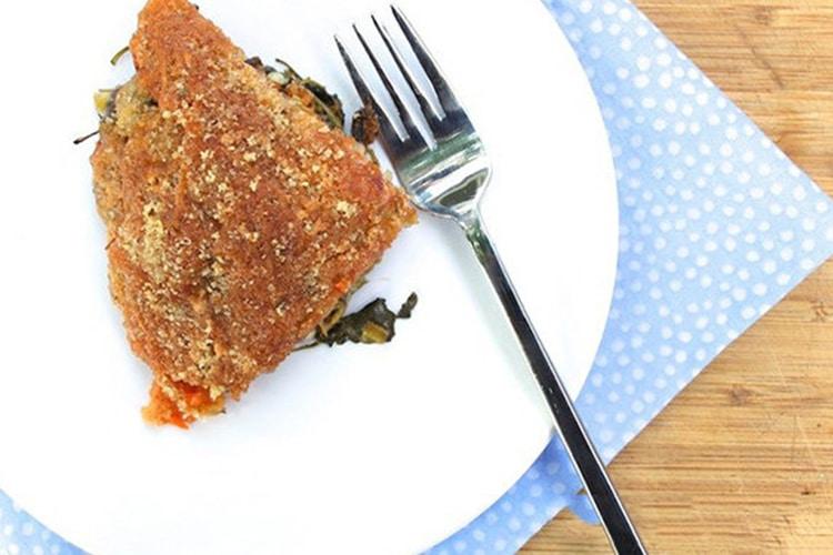 Sweet Potato Kale and Leek Gratin