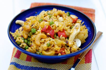 Asian Stir-Fry with Cashews & Chicken