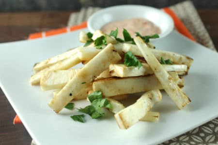 Celeriac Fries with Spicy Dipping Sauce Recipe