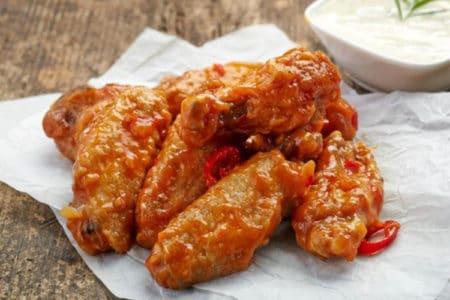 Extra-Crispy, Saucy Baked Buffalo Wings