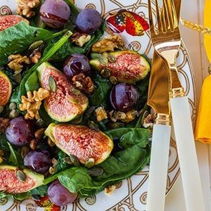 Fig, Grape, and Spinach Salad