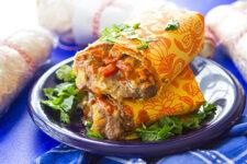 Make-Ahead Roasted Veggie Burritos