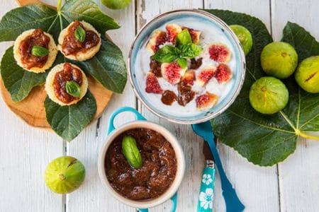 No-Sugar Fig Fruit Spread Healthy Breakfast