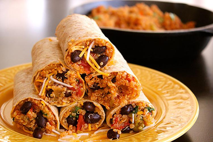Protein Quinoa Bean Burrito Wrap