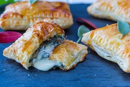 Cheesy Kale Hand Pies