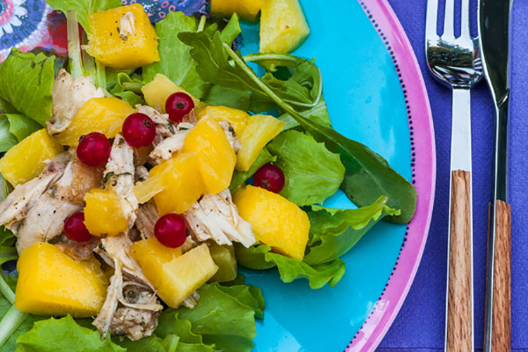 Chicken, Pineapple & Mango Salad