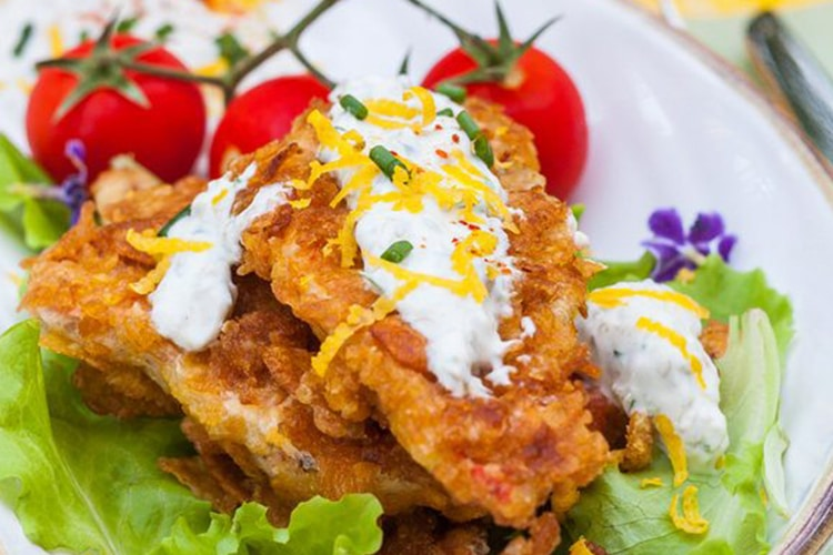 Cornflake Crusted Fish with Tartar Sauce