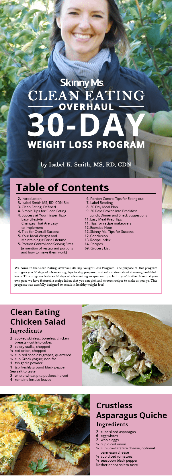 Clean Eating Overhaul 30 Day Weight Loss Program