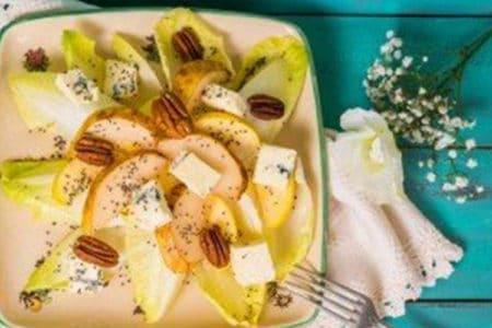 Endive & Apple Salad with Vinaigrette Dressing