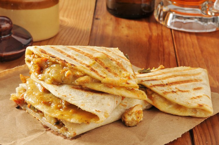 Easy Chicken & Cheese Quesadillas