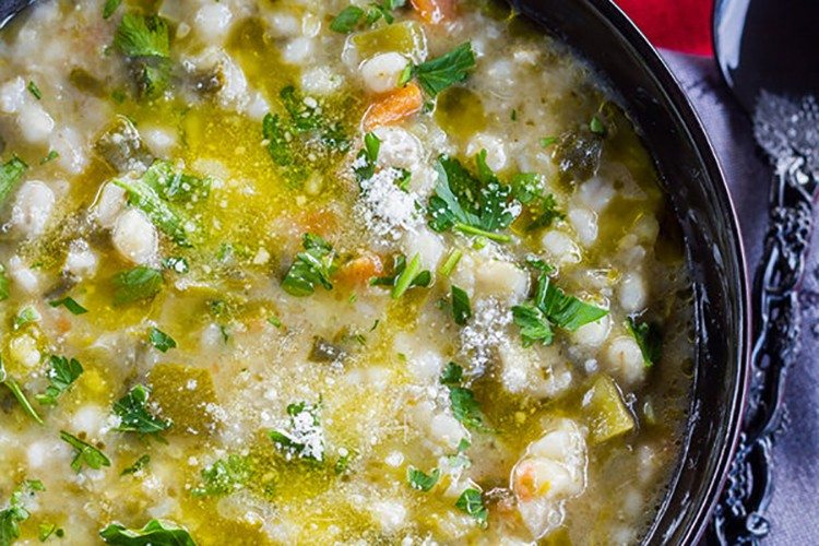 Pearl Barley and Vegetable Minestrone