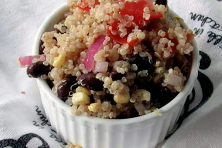 Simple Black Bean Corn Quinoa Salad