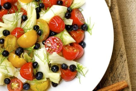 Tomato, Blueberry, and Fennel Salad