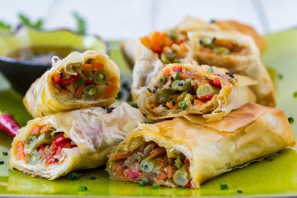 baked-vegetable-spring-rolls