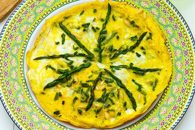 Asparagus and Pine Nut Frittata