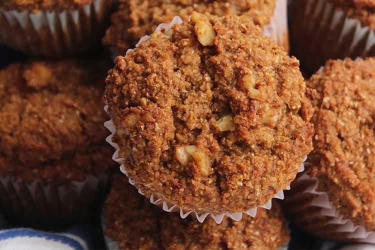 Banana-Walnut Bran Muffins