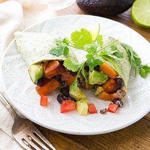 Black Bean and Sweet Potato Wrap