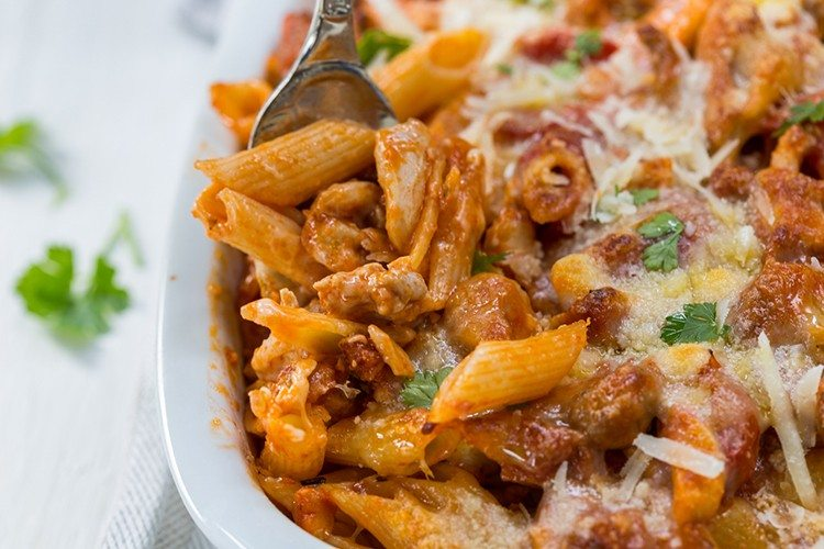 Chicken and Penne Parmesan Casserole Recipe