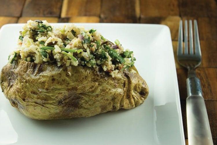 Herbed Wild Rice Stuffed Potatoes Recipe