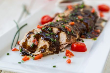 Slow Cooker Balsamic-Glazed Chicken Breast