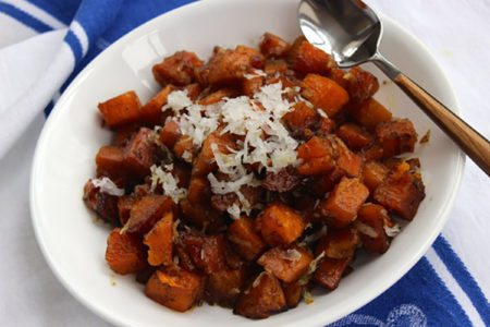 Slow Cooker Coconut-Curry Sweet Potatoes