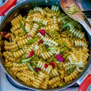 Pasta with Dried Cranberries & Asparagus