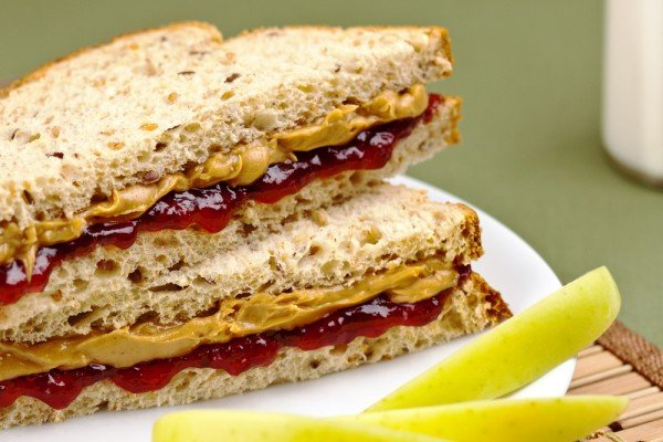 Clean Eating Nut Butter and Jam Sandwich